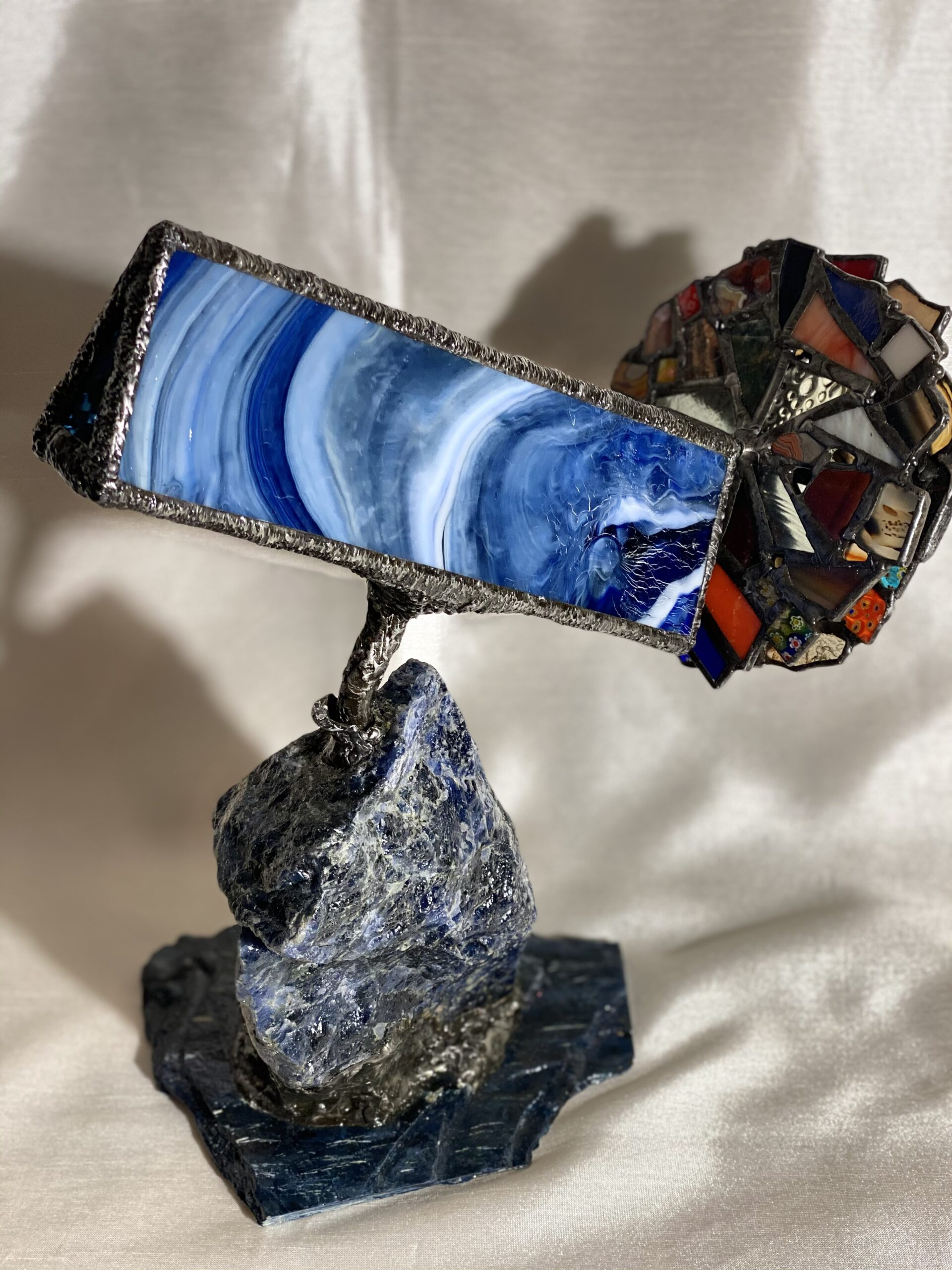 Blue sodalite parlor scope. Etsy:nebraskascopesstudio